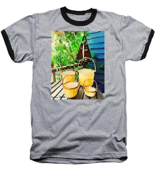 Lightship Baskets And An Old Sailboat Windvane Baseball T-Shirt