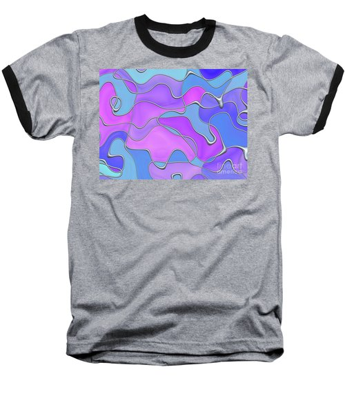 Baseball T-Shirt featuring the digital art Lignes En Folie - 02a by Variance Collections