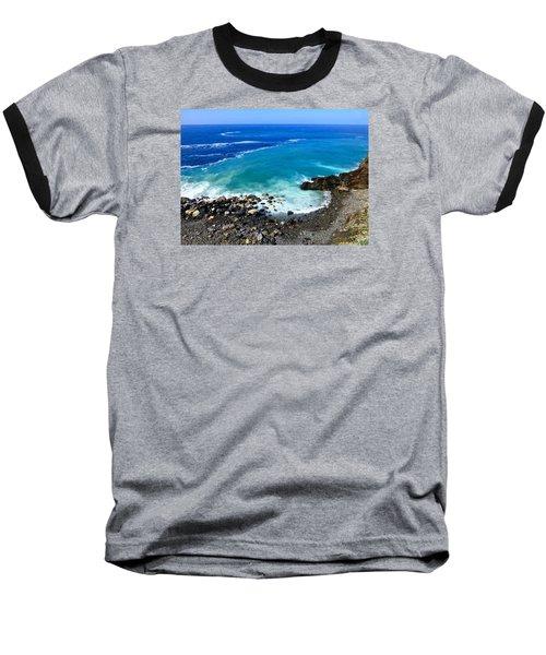 Ligurian Coastline Baseball T-Shirt by Amelia Racca