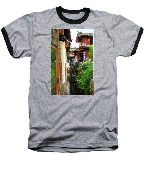 Lijiang Back Canal Baseball T-Shirt by Carla Parris