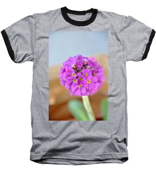 Single Pink Flower Baseball T-Shirt