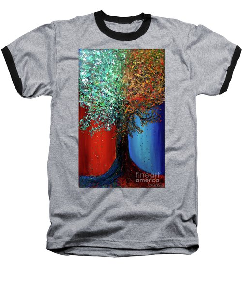 Like The Changes Of The Seasons Baseball T-Shirt by Ania M Milo