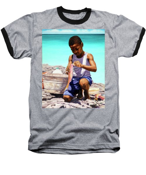 Lil Fisherman Baseball T-Shirt