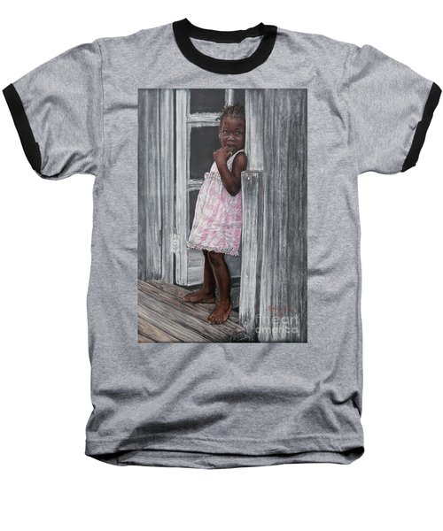 Lil' Girl In Pink Baseball T-Shirt