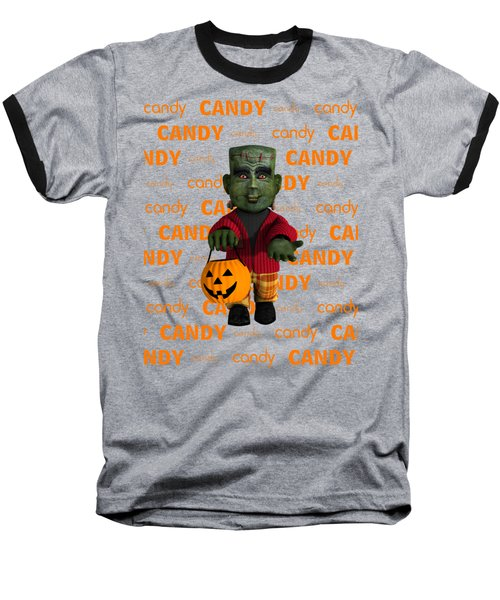 Baseball T-Shirt featuring the digital art Lil Monster Halloween by Methune Hively