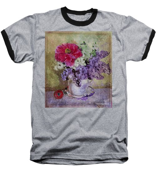Baseball T-Shirt featuring the digital art Lilac Bouquet by Alexis Rotella