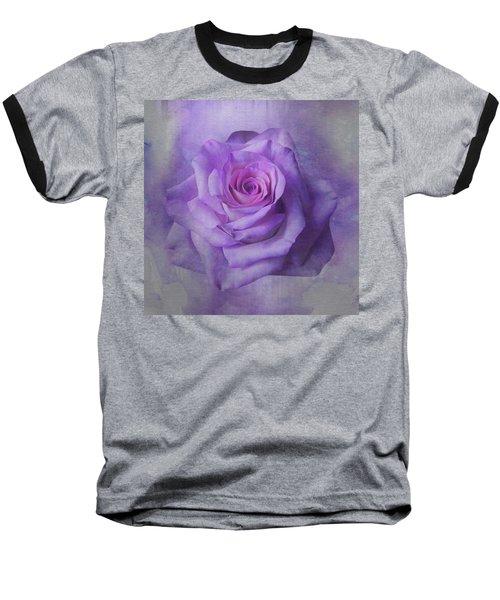 Lilac Purple Rose Baseball T-Shirt
