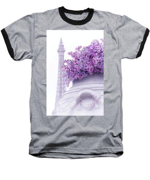 Lilac Tales Baseball T-Shirt by Iryna Goodall