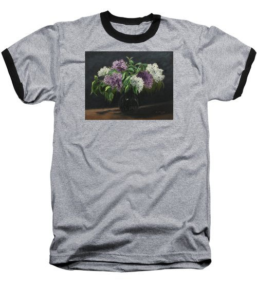 Lilacs Baseball T-Shirt by Alan Mager