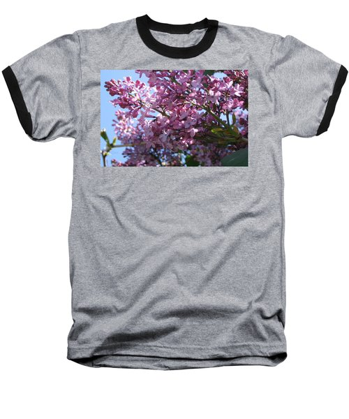 Lilacs In Bloom 2 Baseball T-Shirt by Barbara Yearty