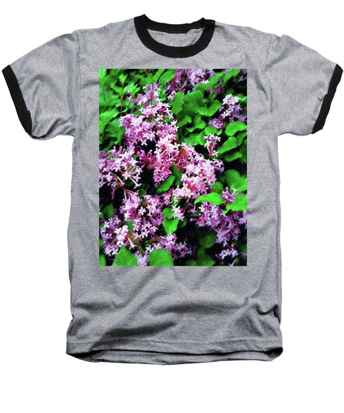 Baseball T-Shirt featuring the painting Lilacs In May by Sandy MacGowan