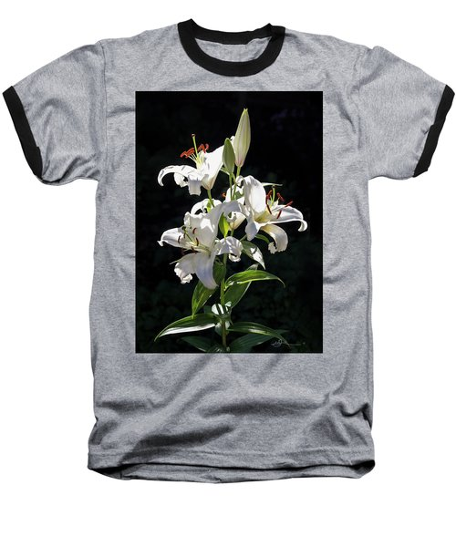 Lilies In The Sun Baseball T-Shirt