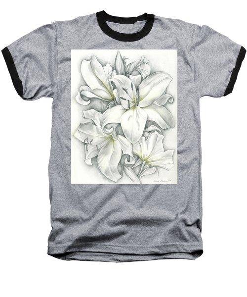 Lilies Pencil Baseball T-Shirt