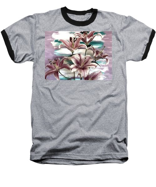 Lilies That Soothe Me Baseball T-Shirt