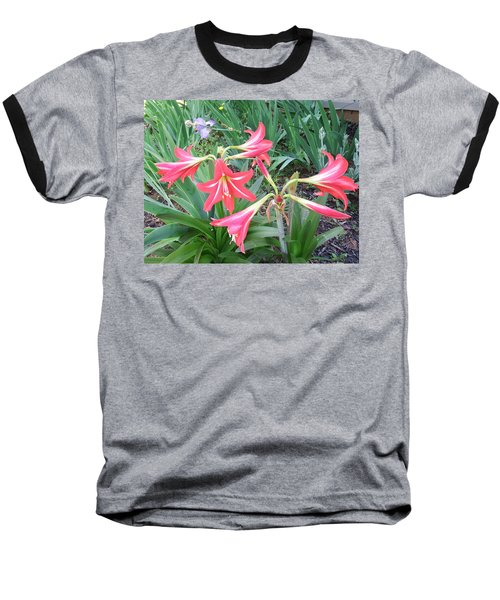Baseball T-Shirt featuring the photograph Lillies by Cathy Harper