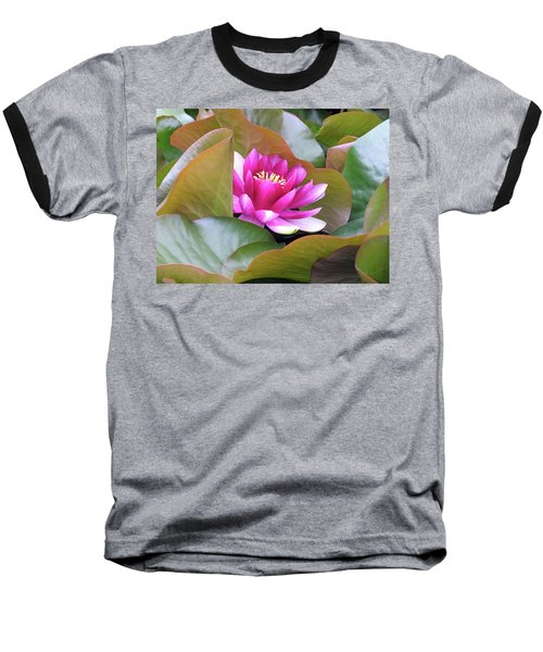 Lilly In Bloom Baseball T-Shirt by Wendy McKennon