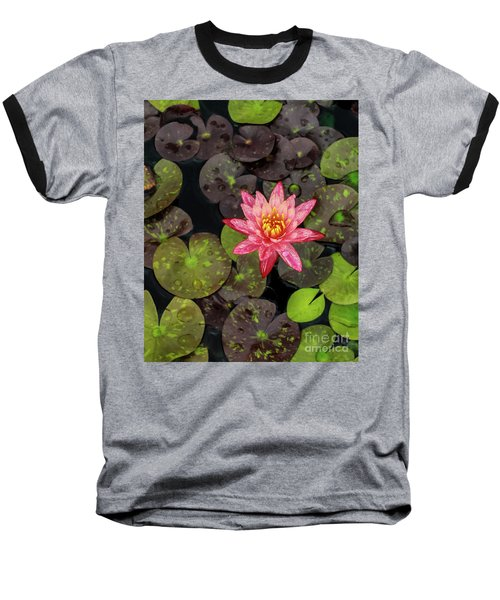 Lilly Pad, Red Lilly Baseball T-Shirt