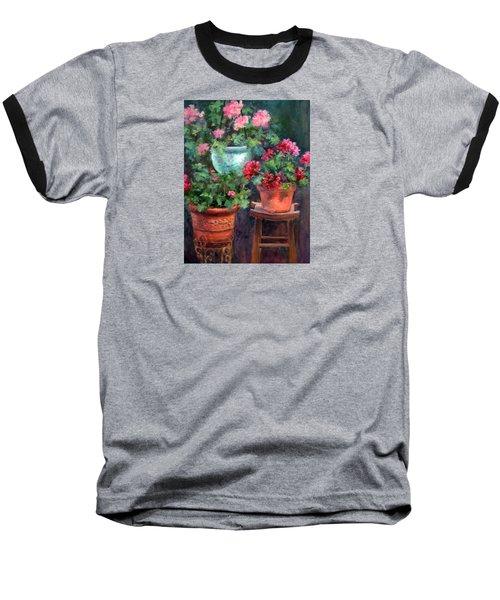 Lil's Geraniums Baseball T-Shirt