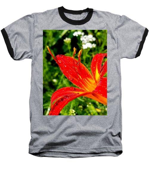 Lily And Raindrops Baseball T-Shirt