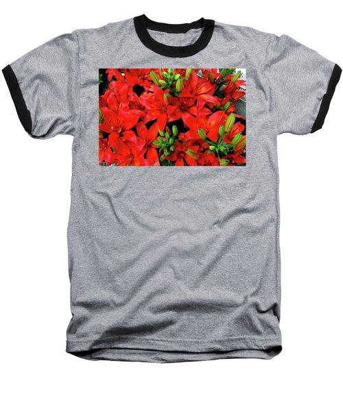 Baseball T-Shirt featuring the photograph Lily Blossoms by LeeAnn McLaneGoetz McLaneGoetzStudioLLCcom