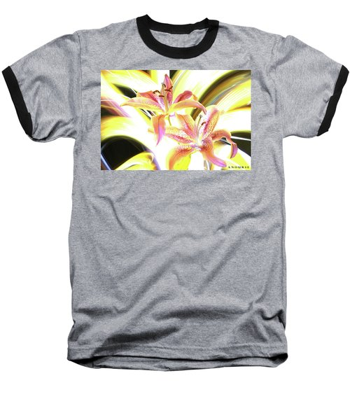 Lily Burst Baseball T-Shirt by Andrew Nourse