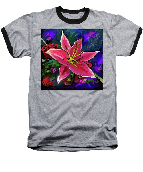 Baseball T-Shirt featuring the painting Lily by DC Langer
