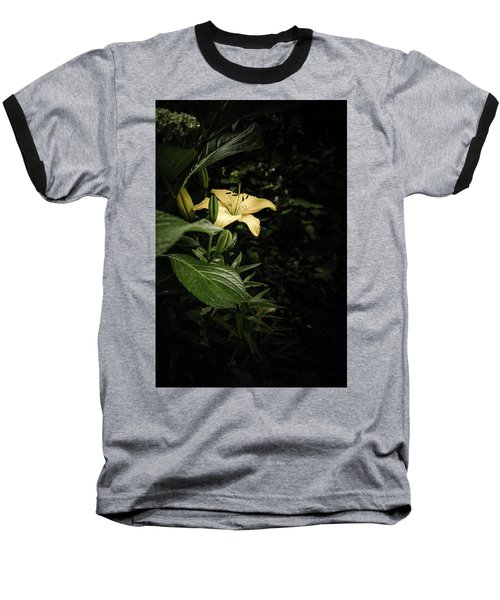 Baseball T-Shirt featuring the photograph Lily In The Garden Of Shadows by Marco Oliveira