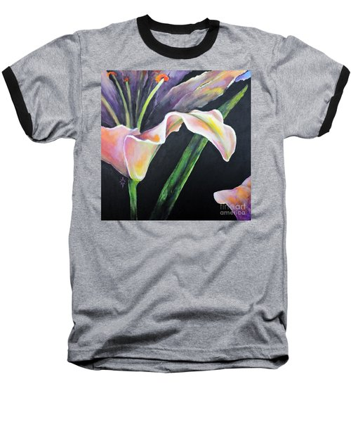 Baseball T-Shirt featuring the painting Lily by Jodie Marie Anne Richardson Traugott          aka jm-ART