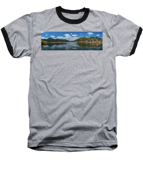 Lily Lake Panorama  Baseball T-Shirt