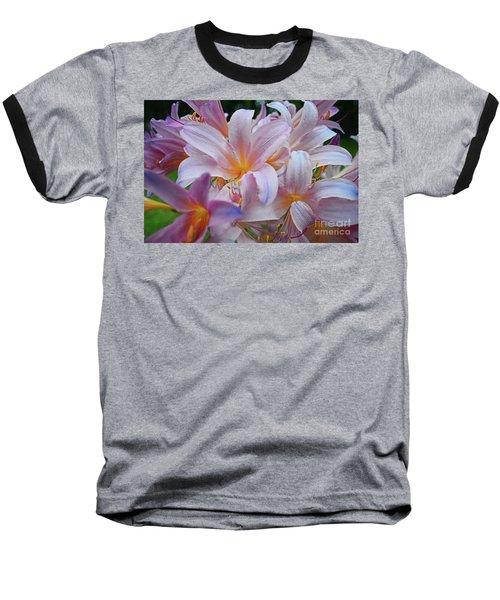 Lily Lavender Closeup Baseball T-Shirt