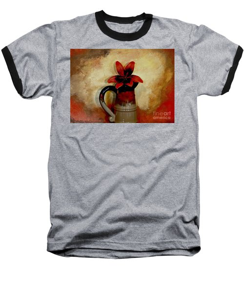 Lily Lovely Baseball T-Shirt by Marsha Heiken