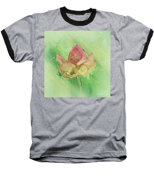 Baseball T-Shirt featuring the mixed media Lily My Lovely - S112sqc88 by Variance Collections