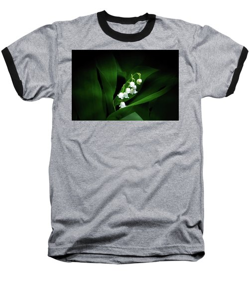 Lily Of The Valley Baseball T-Shirt by Judy Johnson