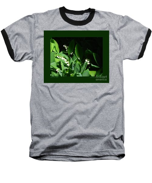 Lily Of The Valley Baseball T-Shirt by Patricia Overmoyer