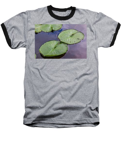 Lily Pad Reflections Baseball T-Shirt