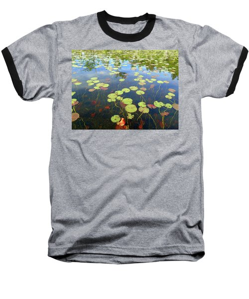 Lily Pads And Reflections Baseball T-Shirt by Susan Lafleur