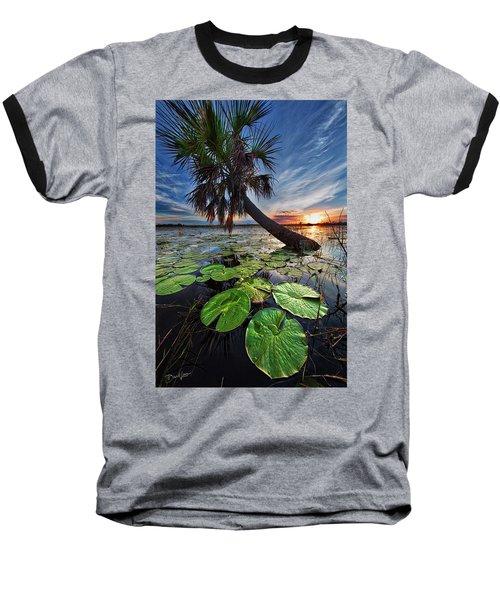 Lily Pads And Sunset Baseball T-Shirt