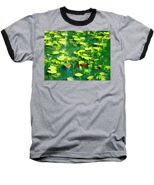 Baseball T-Shirt featuring the photograph Lily Pads by Melissa Stoudt