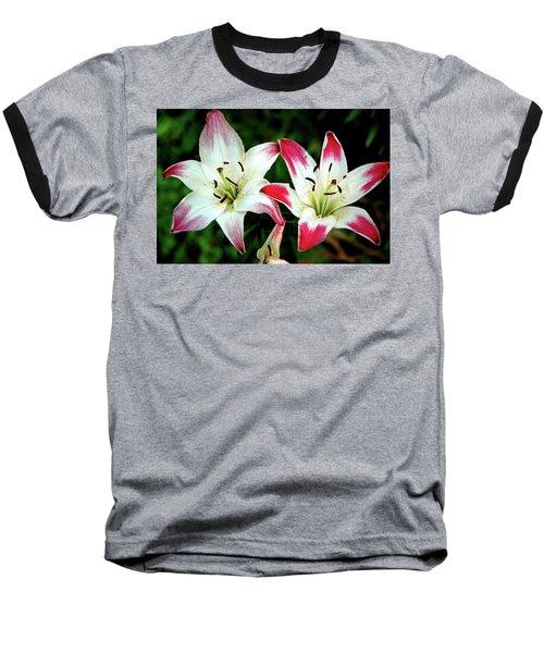 Baseball T-Shirt featuring the photograph Lily Pink Reflections by LeeAnn McLaneGoetz McLaneGoetzStudioLLCcom