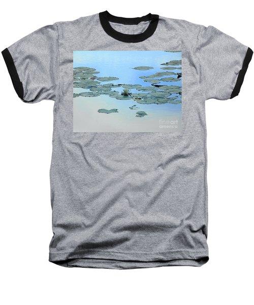 Lily Pond Baseball T-Shirt by Daun Soden-Greene