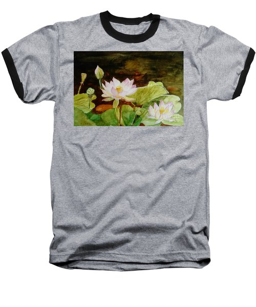 The Lily Pond - Painting  Baseball T-Shirt