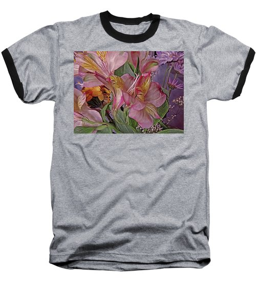 Lily Profusion 7 Baseball T-Shirt by Lynda Lehmann