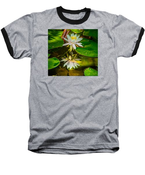 Baseball T-Shirt featuring the photograph Lily Reflection by Jerry Cahill