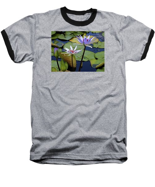 Baseball T-Shirt featuring the photograph Lily Trio by Judy Vincent