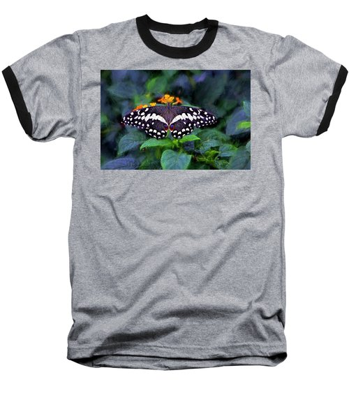 Baseball T-Shirt featuring the photograph Lime Swallow Tail by James Steele