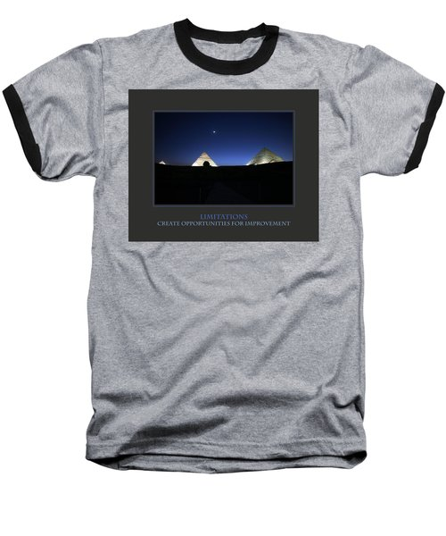 Baseball T-Shirt featuring the photograph Limitations Create Opportunities For Improvement by Donna Corless