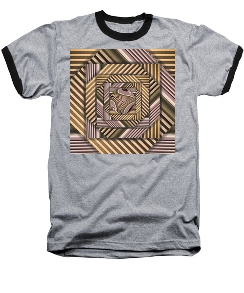 Baseball T-Shirt featuring the digital art Line Geometry by Ron Bissett