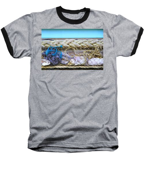 Baseball T-Shirt featuring the photograph Line Of Debris II by Stephen Mitchell