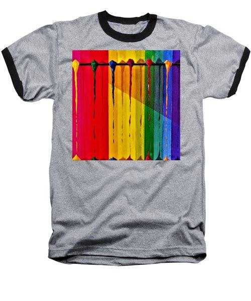 Line Of Fall Colors Baseball T-Shirt