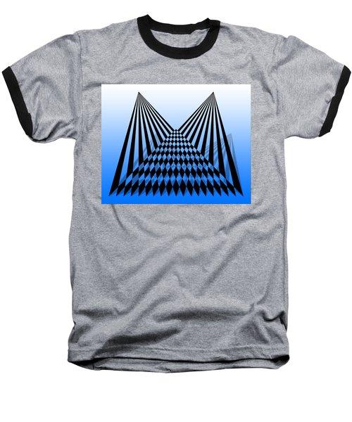 Line Overlapping T-shirt Baseball T-Shirt by Isam Awad